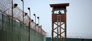 A guard tower overlooks the prison at Camp Delta in Guantanamo Bay, Cuba. (Photo: Richard Perry / The New York Times)
