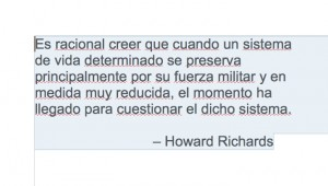 Howard Richards quote