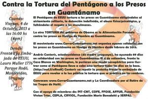 Uruguay4octEmbaEEUUenMVDprotestarTorturaAlimentacionForzosa